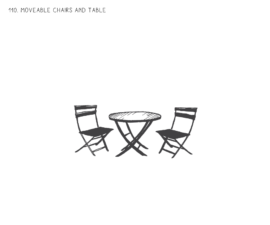 Movable Chairs and Tables